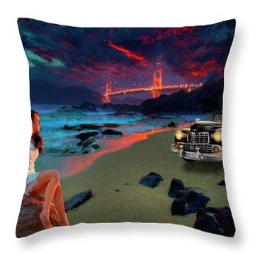 San Francisco Sunrise Throw Pillow