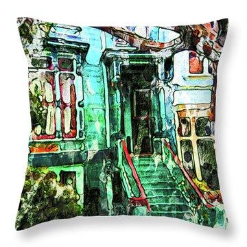 San Francisco Victorian Throw Pillow