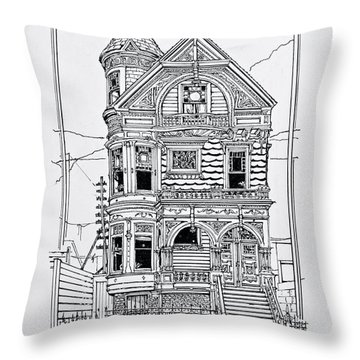 San Francisco Victorians  Throw Pillow