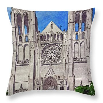 San Francisco's Grace Cathedral Throw Pillow