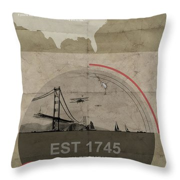 San Francisco Bridge Throw Pillows