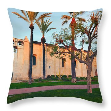 San Gabriel Mission California Throw Pillow