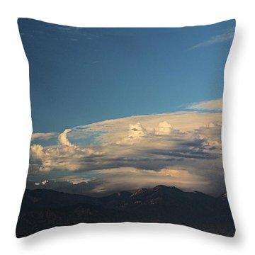 San Gabriel Mountains Clouds Formation   Throw Pillow
