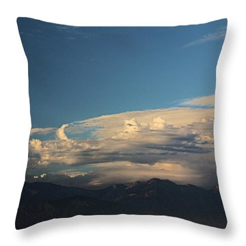 San Gabriel Mountains Clouds Formation   Throw Pillow