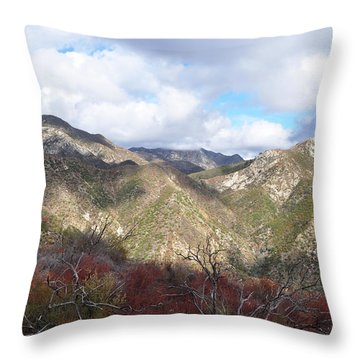 San Gabriel Mountains National Monument Throw Pillow by Kyle Hanson