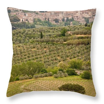 San Gimignano II Throw Pillow