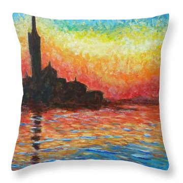 San Giorgio At Dusk Throw Pillow