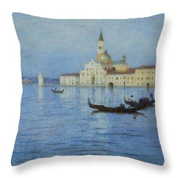 San Giorgio Maggiore Throw Pillow by Helen Allingham