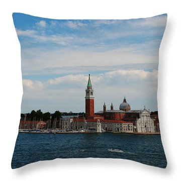 Throw Pillow featuring the photograph San Giorgio Maggiore by Robert  Moss