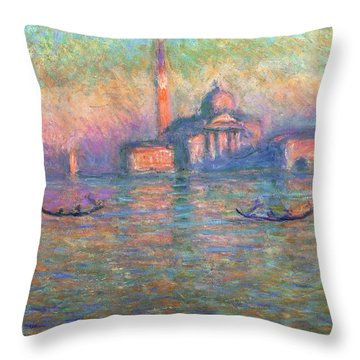 San Giorgio Maggiore Venice Throw Pillow by Claude Monet