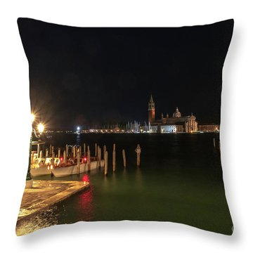 San Giorgio Maggiori At Night Throw Pillow