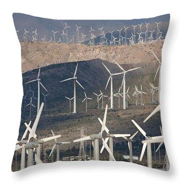 San Gorgonio Pass Wind Farm I Throw Pillow