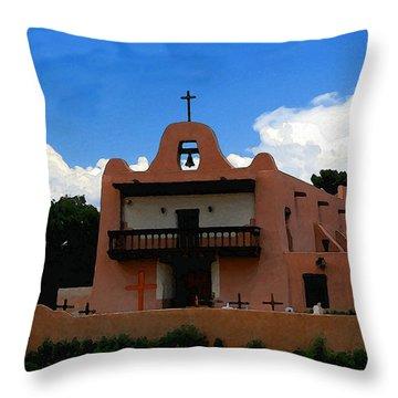 San Ildefonso Pueblo Throw Pillow by David Lee Thompson