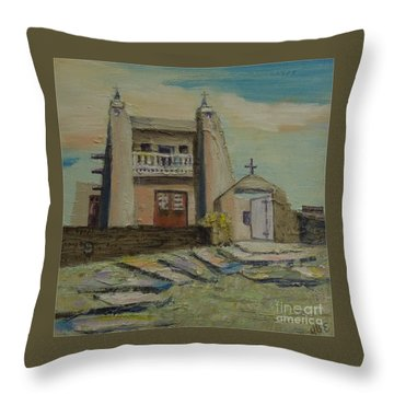 San Jose De Gracia - Sold Throw Pillow by Judith Espinoza