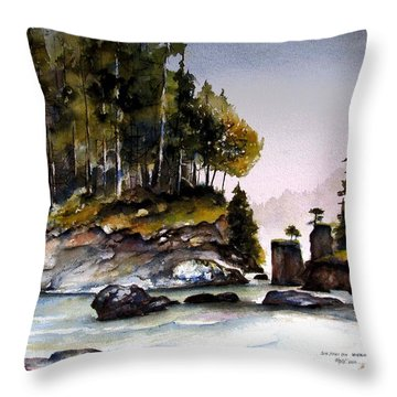Throw Pillow featuring the painting San Josef Bay by Marti Green