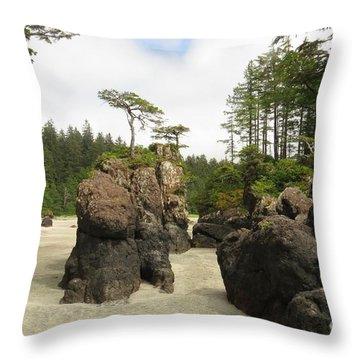 San Josef Stacks Throw Pillow