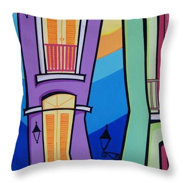 San Juan Alegre-4 Throw Pillow by Mary Tere Perez
