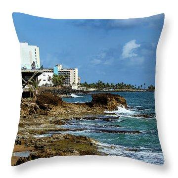 San Juan Bay In Puerto Rico Throw Pillow