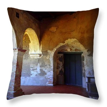 San Juan Capistrano Mission Throw Pillow