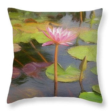 Throw Pillow featuring the photograph San Juan Capistrano Water Lilies by Michael Hope