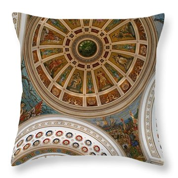 San Juan Capital Building Ceiling Throw Pillow