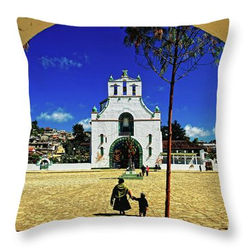 Throw Pillow featuring the photograph San Juan Chamula Church In Chiapas, Mexico by Sam Antonio Photography