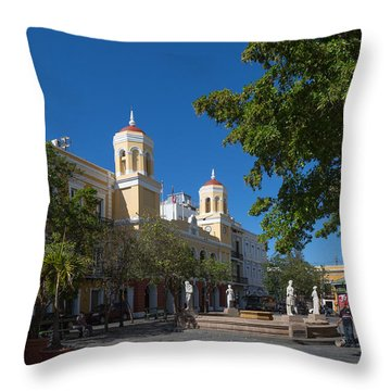 San Juan City Hall From Plaza De Armas Throw Pillow