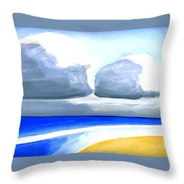 Throw Pillow featuring the painting San Juan Cloudscpe by Dick Sauer
