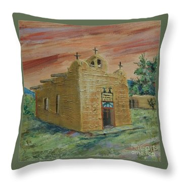 San Juan De Los Lagos - Sold Throw Pillow by Judith Espinoza