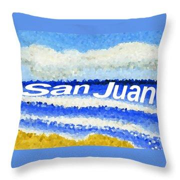 Throw Pillow featuring the painting San Juan  by Dick Sauer