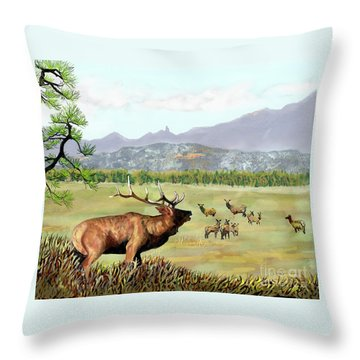 San Juan Elk Vista Throw Pillow