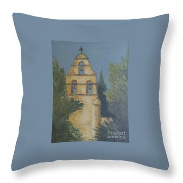 San Juan Mission Throw Pillow by Jeanie Watson
