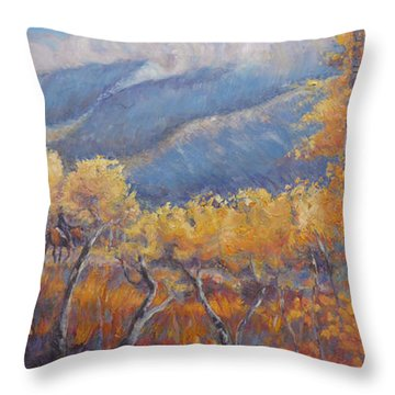 San Juan Mountain Gold Throw Pillow