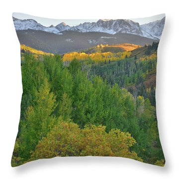 Throw Pillow featuring the photograph San Juan Mountain Sunset by Ray Mathis