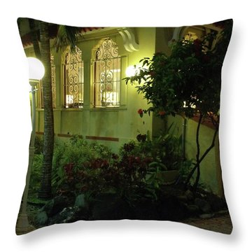 San Juan Night Throw Pillow by Anna Villarreal Garbis