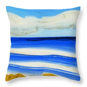 Throw Pillow featuring the painting San Juan, Puerto Rico by Dick Sauer