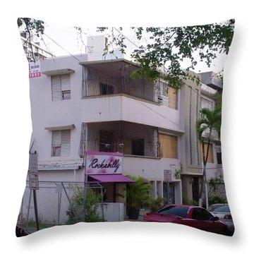 San Juan Rockabilly Throw Pillow by Anna Villarreal Garbis