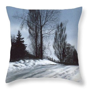 San Juan Snow Throw Pillow