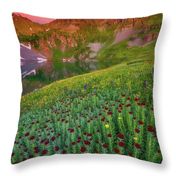 Throw Pillow featuring the photograph San Juan Sunrise by Darren White
