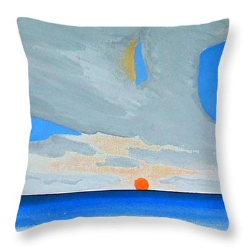 San Juan Sunrise Throw Pillow by Dick Sauer