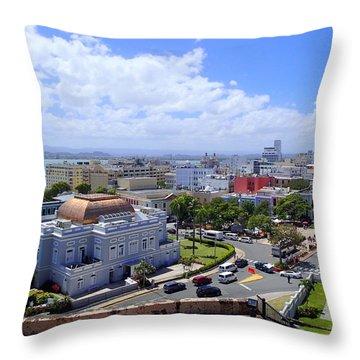 San Juan View Throw Pillow by Lois Lepisto