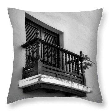 San Juan Window 2 Throw Pillow by Perry Webster