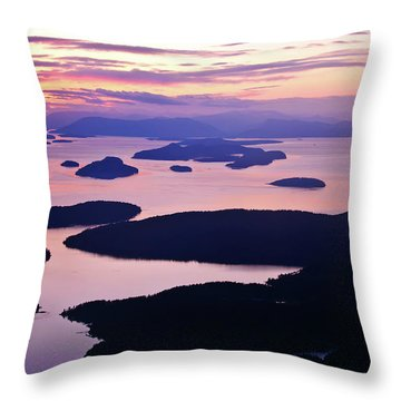 San Juans Tranquility Throw Pillow by Mike Reid