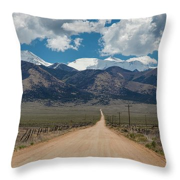 San Luis Valley Back Road Cruising Throw Pillow by James BO Insogna