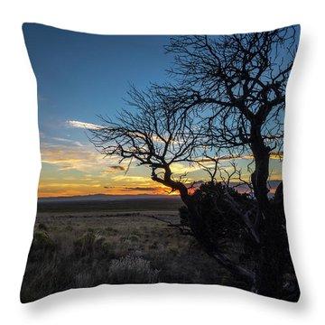 San Luis Valley Sunset - Colorado Throw Pillow