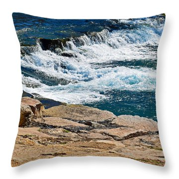 San Marcos River Waterfall  Throw Pillow