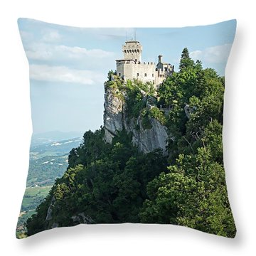 San Marino - Guaita Castle Fortress Throw Pillow