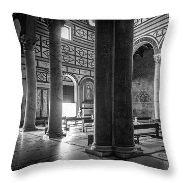 San Miniato Al Monte Throw Pillow by Sonny Marcyan