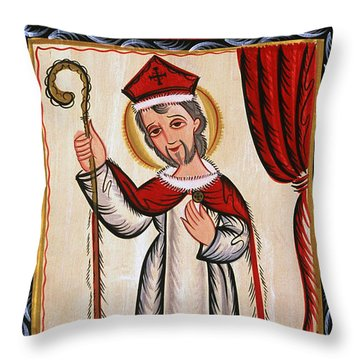 San Nicolas - St. Nicholas - Aosni Throw Pillow