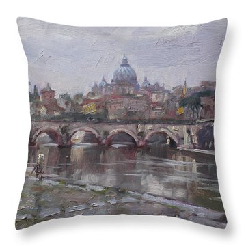 City Landscape Throw Pillows